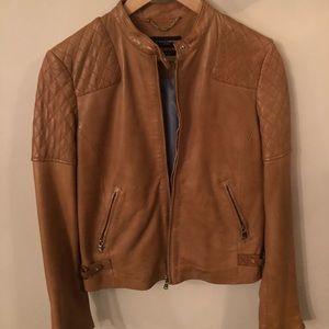 Moto Style Women's Leather Jacket - Size Small